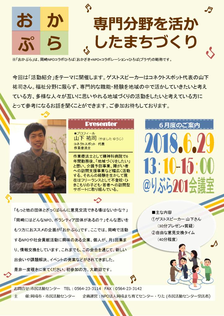 6月のおかぷら(岡崎NPOコラボひろば)