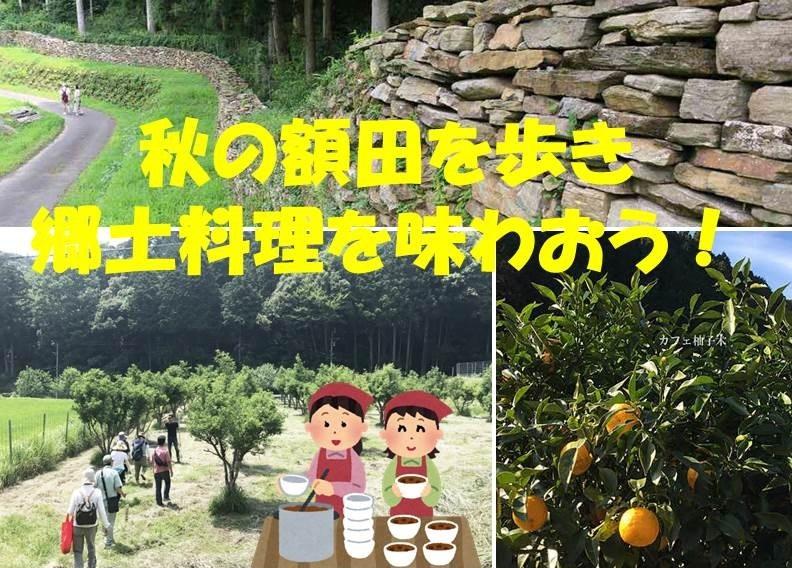 秋の額田を歩き、郷土料理を味わおう!(まち育てスクール)